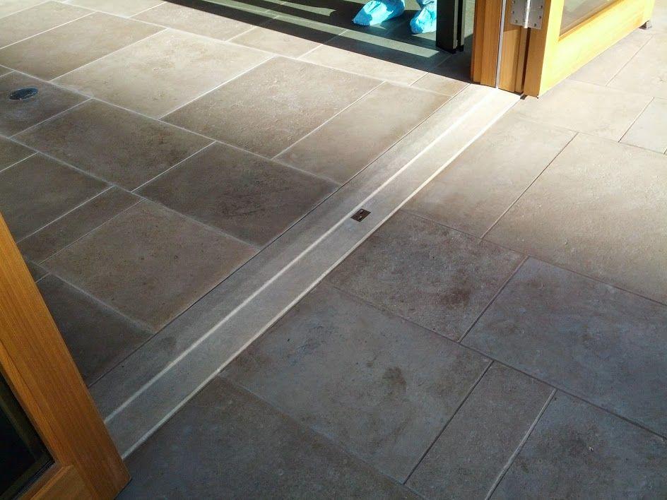 Flush Stone Thresholds Accessible Shower Accessible Bathroom Tile Floor