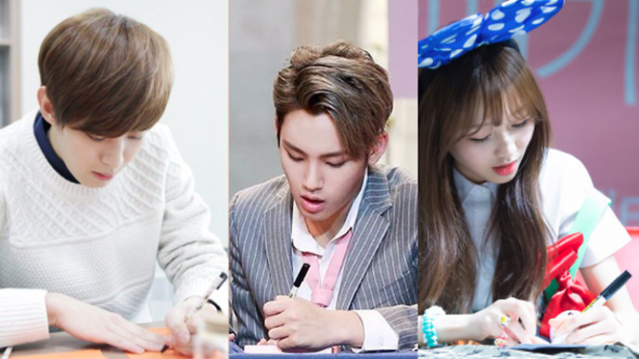 K Pop Idols You Didn T Know Were Left Handed Korean Music Kpop Idol Kpop