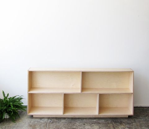 Trapezoid Bookcase Baltic Birch Plywood For a private residence