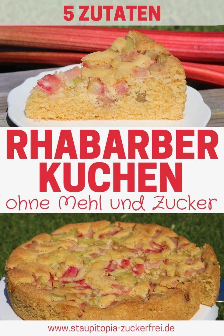 Low Carb Rhabarberkuchen Mit Nur 5 Zutaten Rezept Mit Bildern Rhabarberkuchen Rhabarberkuchen Rezept Rezepte