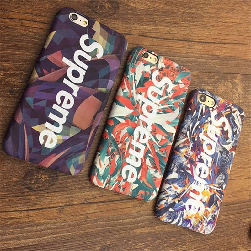 Luminous Case For iphone 7 6 6s Plus 5 5s SE Luxury Matte Phone Cover Coque Fashion Tide Brand Phone Hard PC Supreme Cases