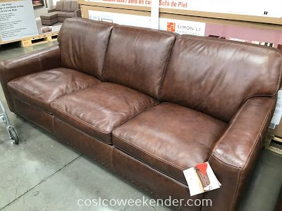 Simon Li Leather Sofa 734867 at Costco | Sofa bed design ...