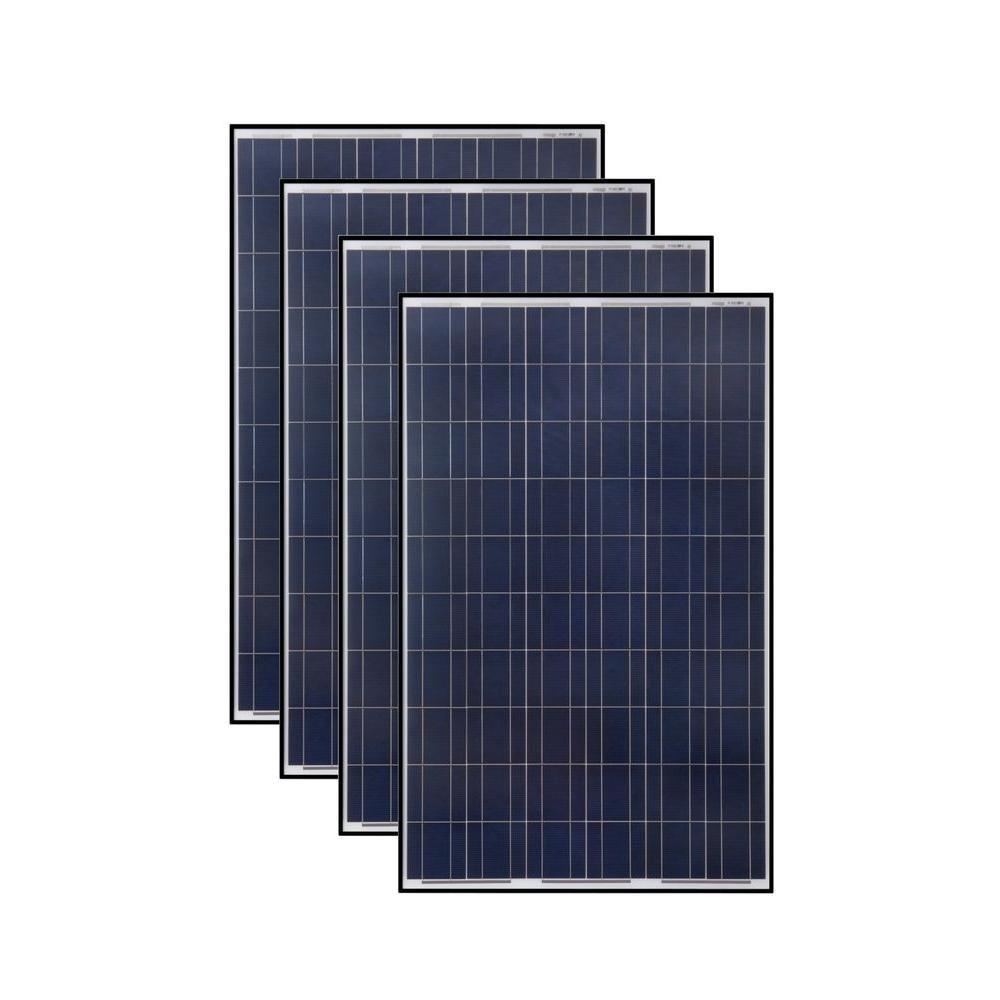 Grape Solar 265 Watt Polycrystalline Solar Panel 4 Pack Gs P60 265x4 The Home Depot Solar Panels Best Solar Panels Solar Panel Technology