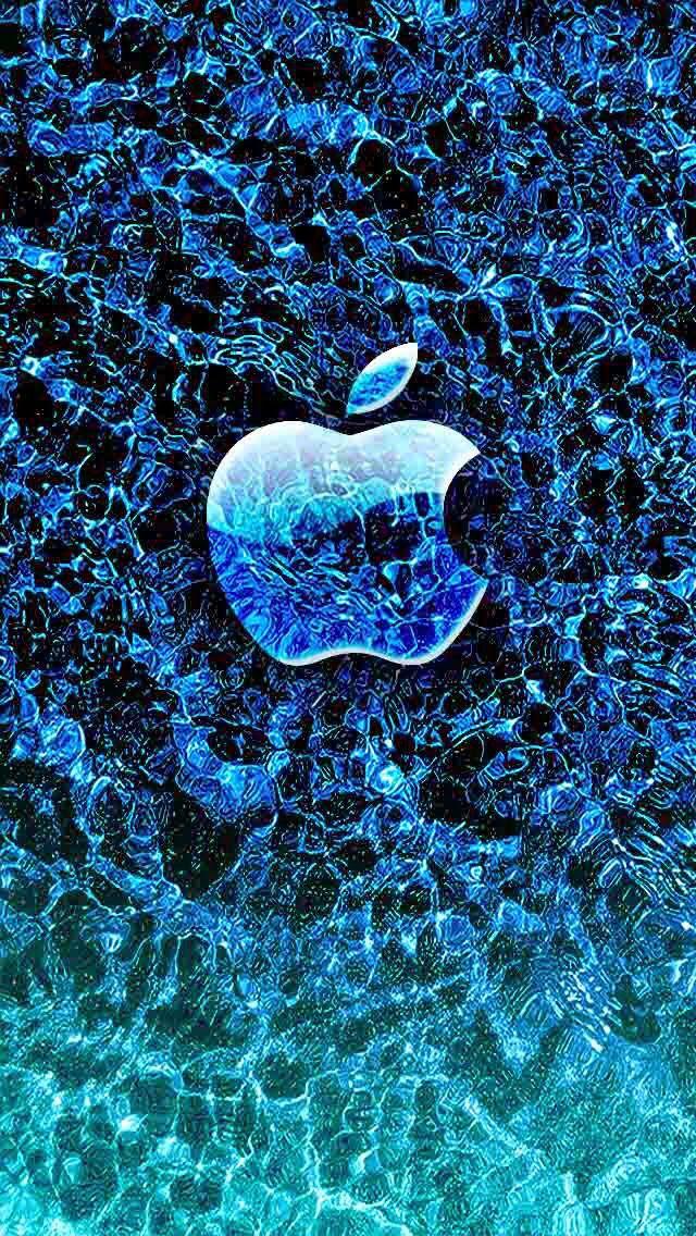 Cool Blue Apple Wallpaper Apple Wallpaper Iphone Apple