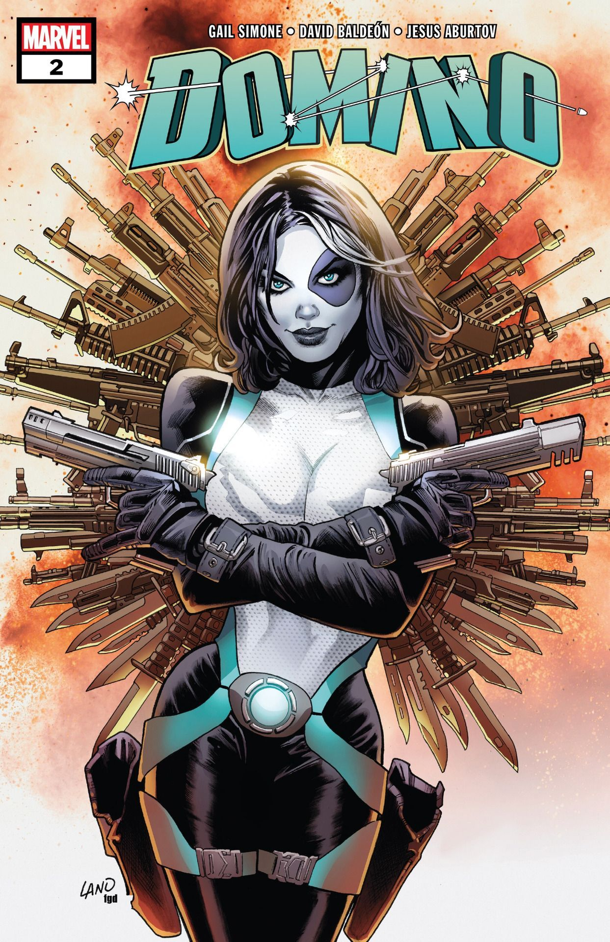 "digsyiscomics: ""Domino v3  2, July 2018, written by Gail Simone, penciled by David Baldeon """