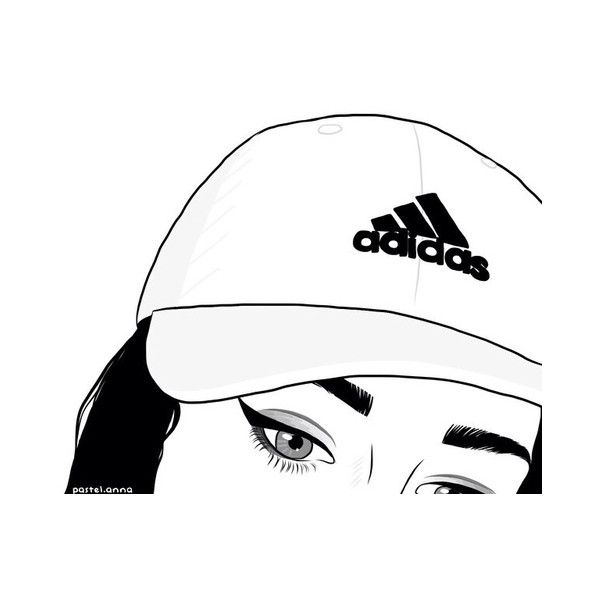 adidas, outline, and girl image