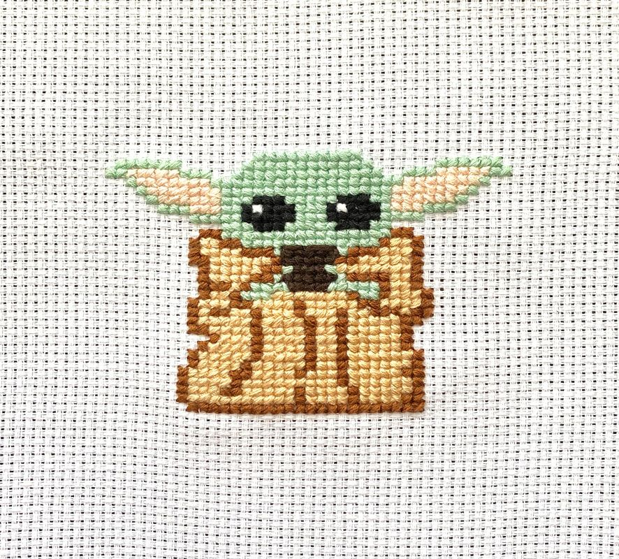 Baby Yoda Cross Stitch - Made by Caitlin