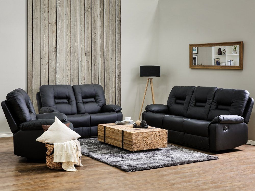 Miraculous Faux Leather Living Room Set Black Bergen Living Room Gmtry Best Dining Table And Chair Ideas Images Gmtryco