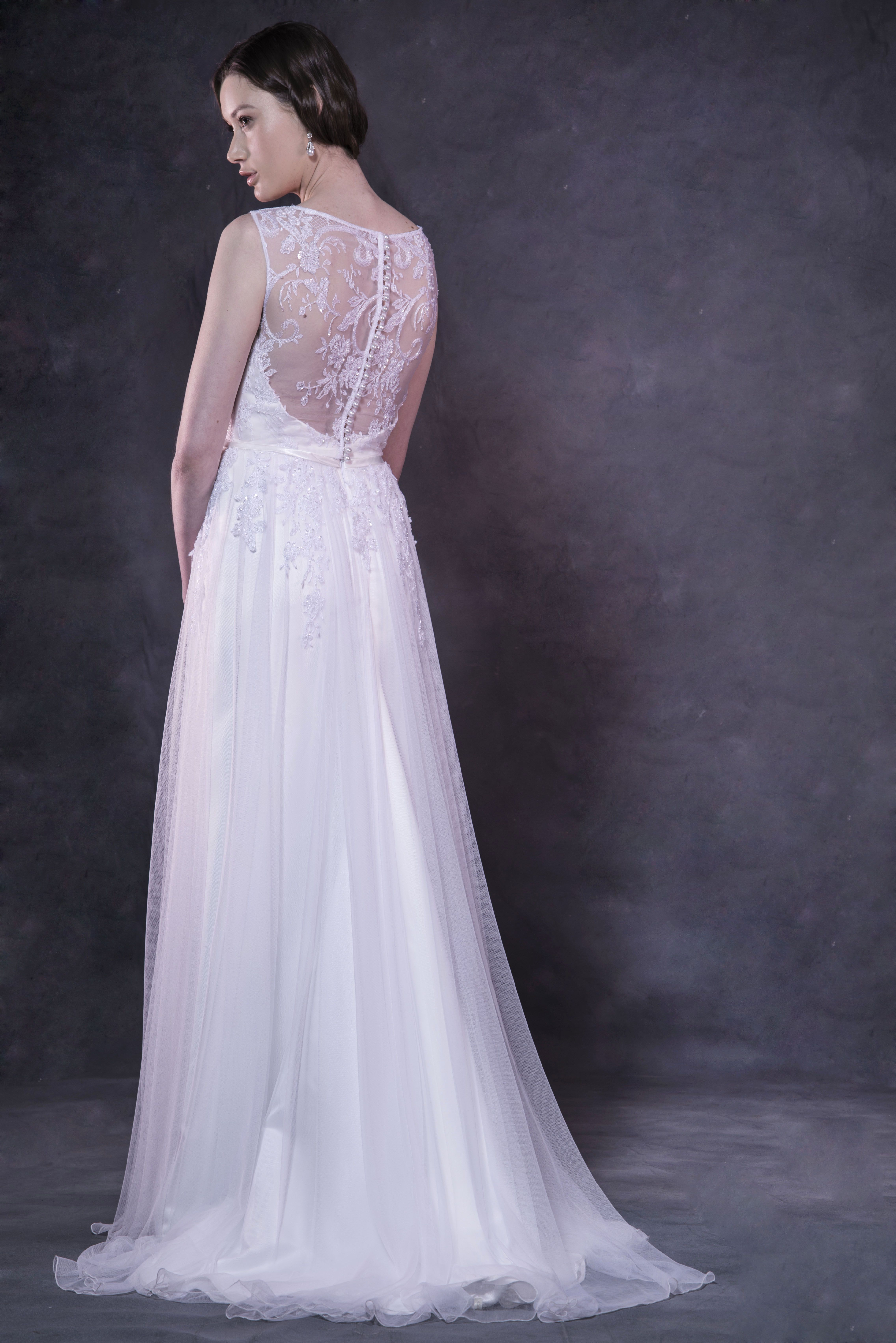 The \'Sally\' by Caleche Bridal gown has a very romantic feel with its ...
