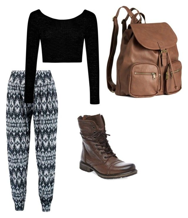 """High schooler #2"" by loulou202 on Polyvore featuring Boohoo, H&M and Steve Madden"