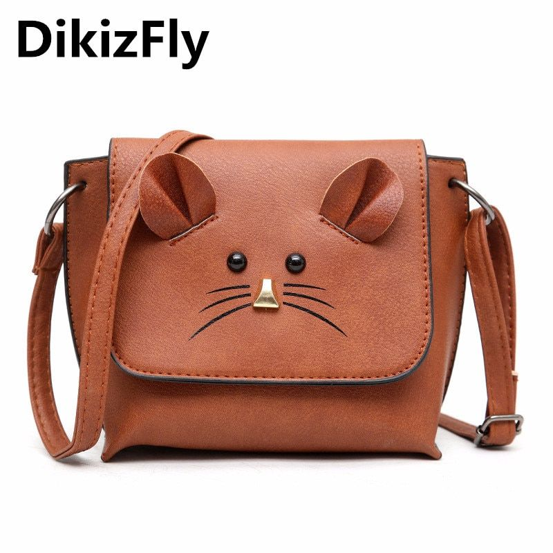e6e0e55b8 DikizFly New Fashion Mini Women Shoulder Bags Cute Cat Crossbody Bags Small  Purse Girls Handbags Woman Messneger Bag Student Bag Review