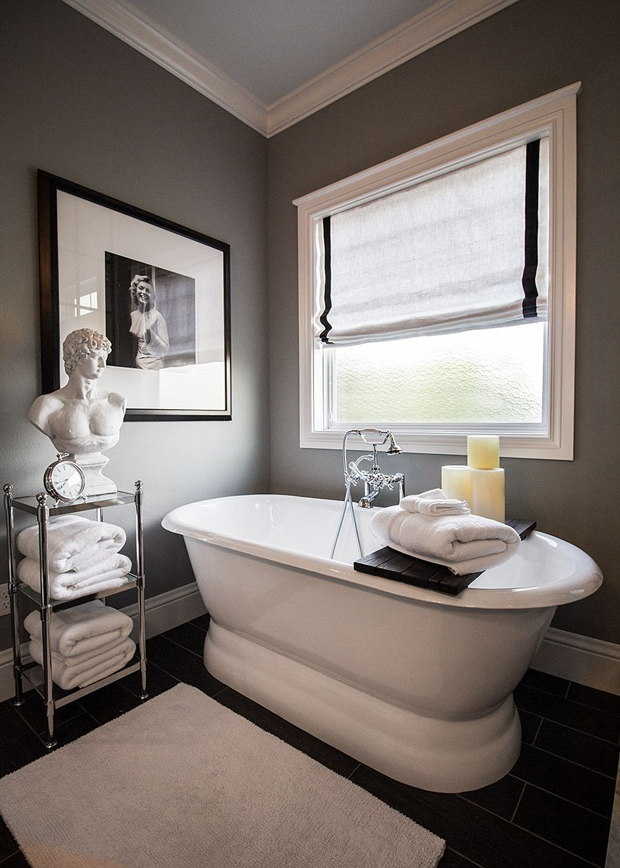 Under window decor  the ultimate bathroom remodel  builder grade brown walls and
