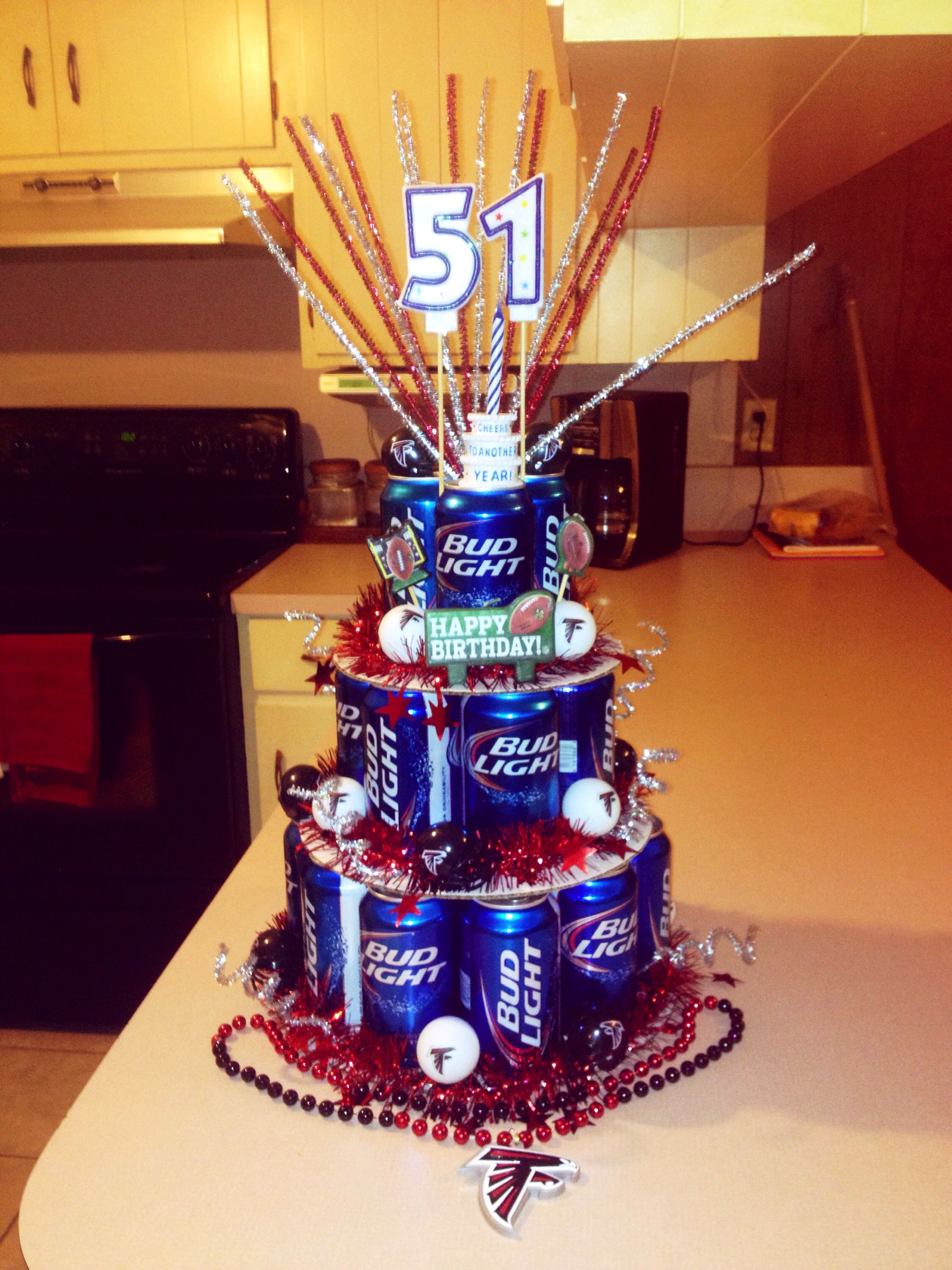 Beer Cake Tower That I Made For Barry S Birthday Go Falcons