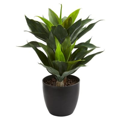 Nearly Natural Indoor Outdoor Spiked Agave Artificial Plant In Sand Colored Bowl 6962 Artificial Plants Agave Plant Plants