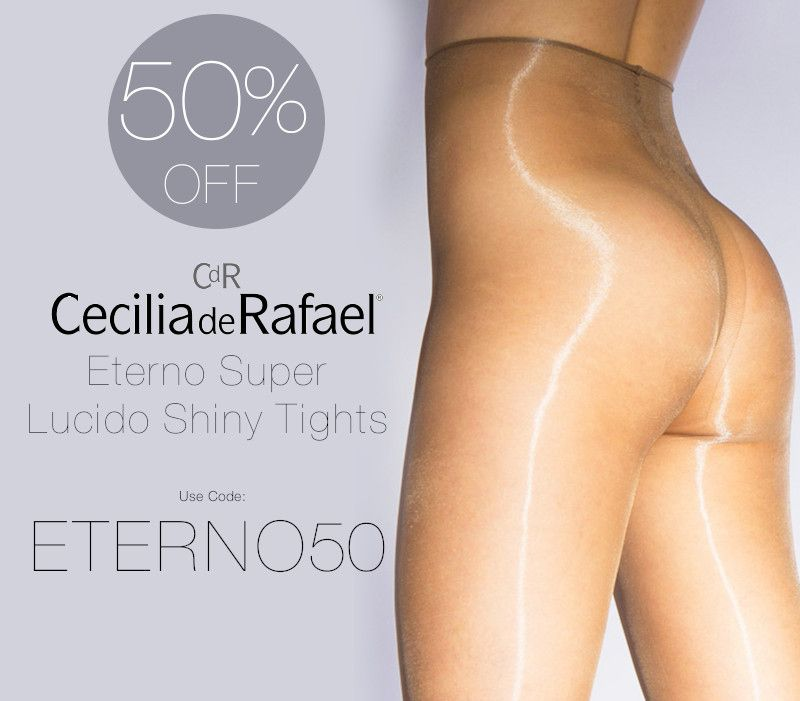 2339c46b600 Shop and save 50% OFF Cecilia de Rafael s Eterno Super Lucido Tights ...