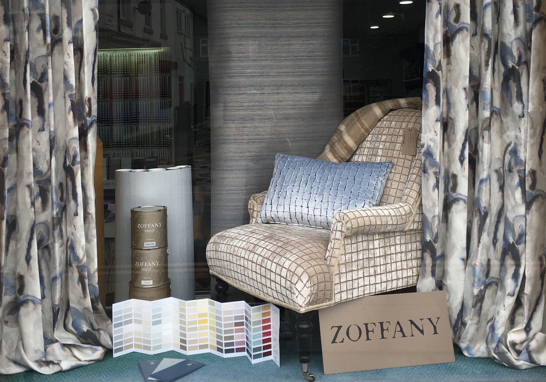 Zoffany window display at Glenwood Interiors