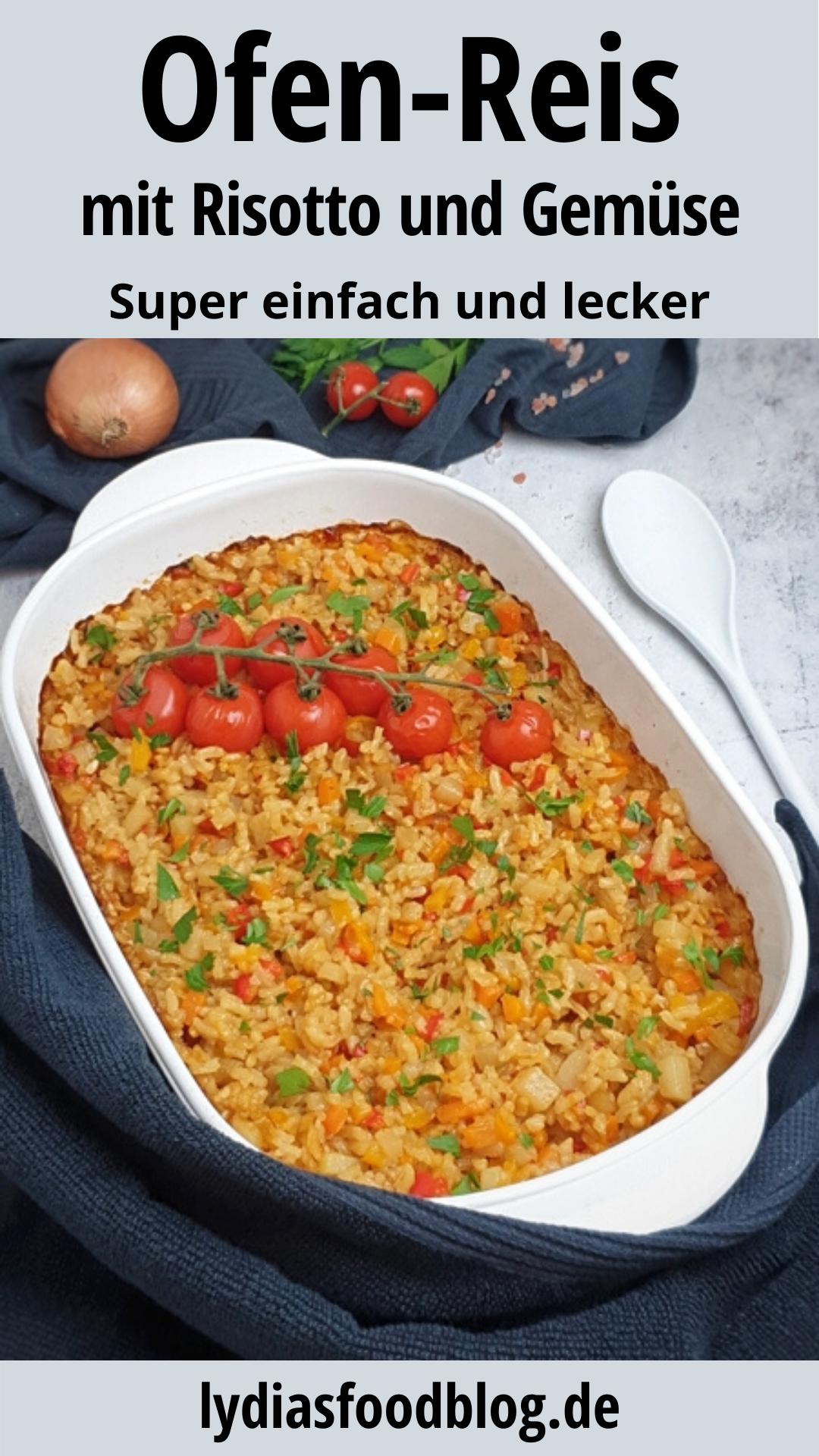 Risotto einfach aus dem Ofen, mit Gemüse, Rezept