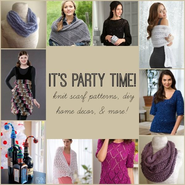 It\'s Party Time: 18 Knit Scarf Patterns, DIY Home Decor, & More ...