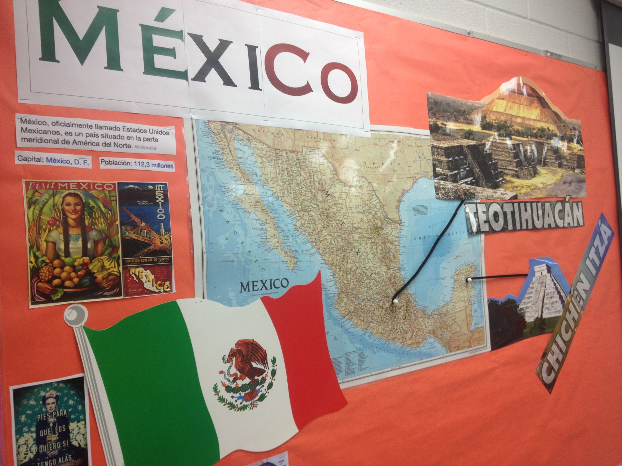 Mexico Bulletin Board | Spanish | Pinterest | Bulletin board, Board ...