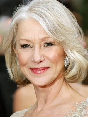 Love Helen Mirren S Beautiful Silver And Platinum Hair Gray