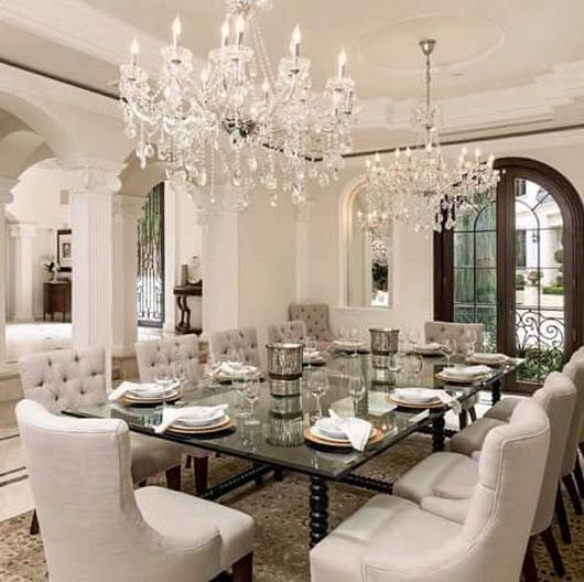 Mansion Dining Room: Wow! Gorgeous Dining Room! #luxurydiningroomfurniture