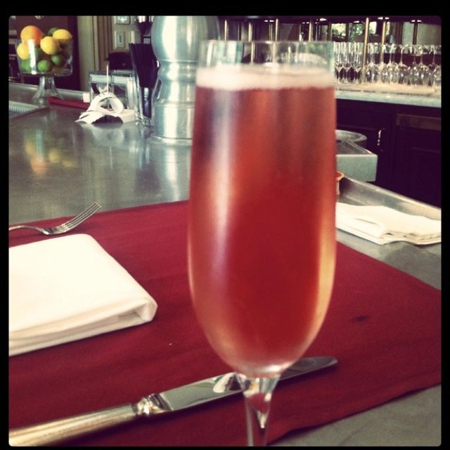Another glass of pink bubbles.  At the newly opened Bouchon in Beverly Hills.
