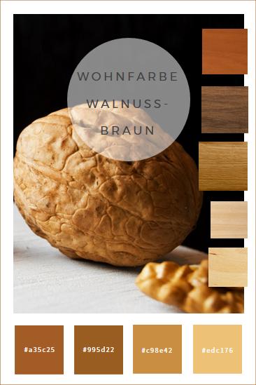 Farbkonzepte Wande In Walnussbraun Braune Kuchen Farbkonzept