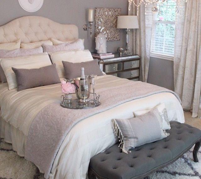 Bedroom Decor. Romantic Bedroom ColorsBedroom NeutralShabby Chic Grey ...