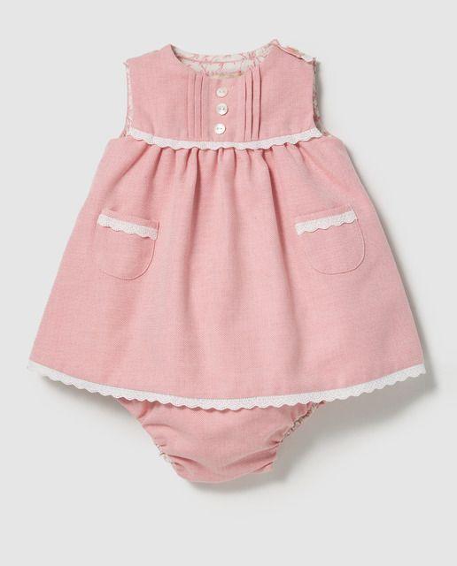 80489d724 Vestido de bebé niña Mini Tizzas Twins en rosa con bolsillos | Ropa ...