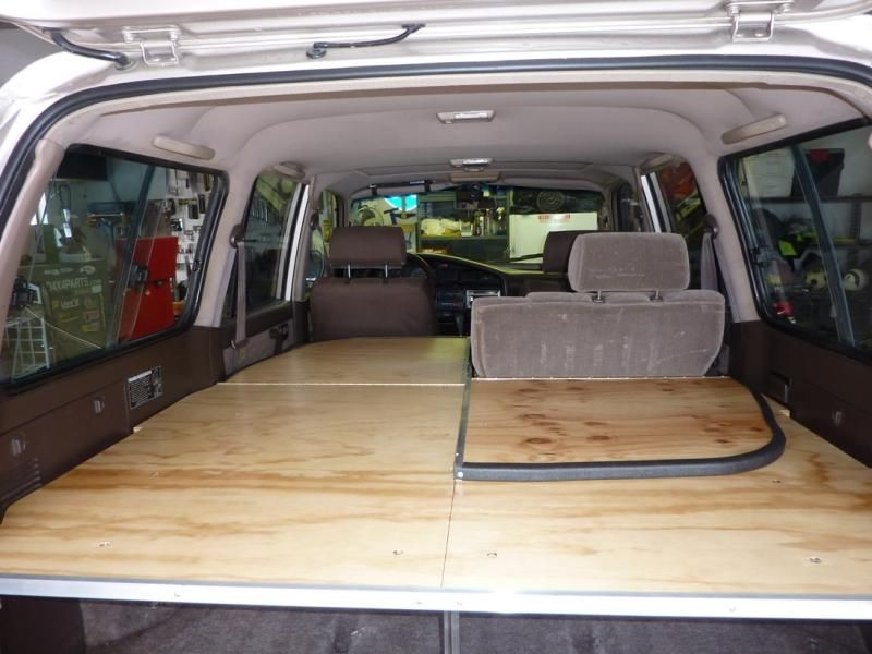 This is a good 4Runner sleeping platform that folds back ...