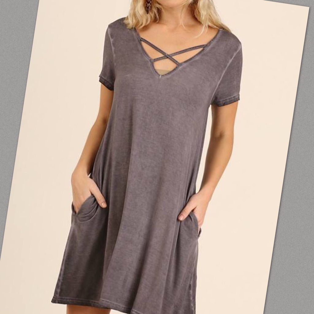 Umgee dress or long top with pockets gray nwt products