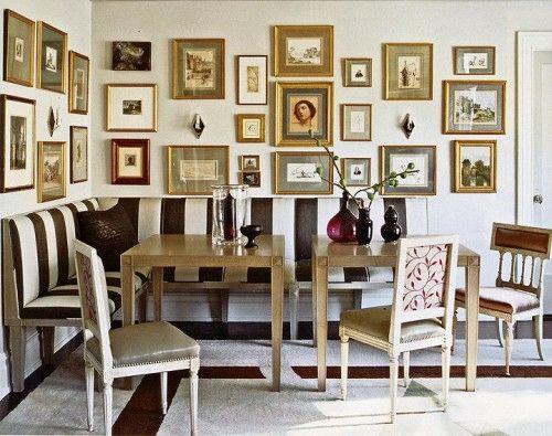 Cool Wand Dekoration mit Bildern kunstvolle Wandgestaltung Ideen