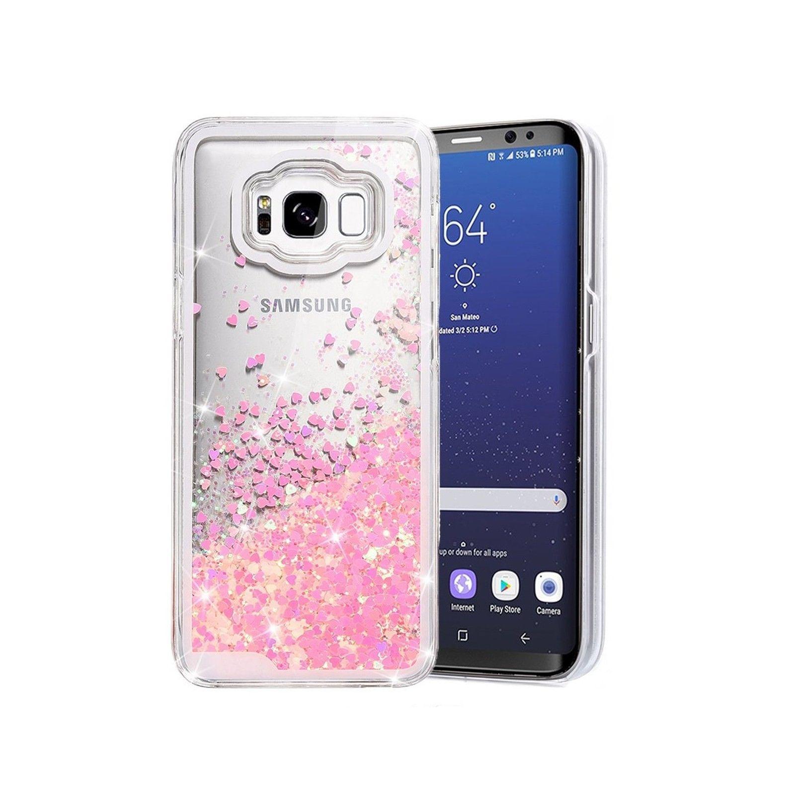 premium selection 952d4 2372b GALAXY S8 PLUS Case Glitter Liquid Sparkle BLING Flowing Floating ...