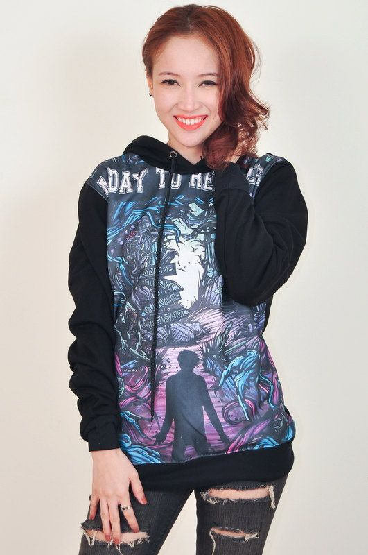 A Day To Remember Homesick Punk Rock Hoodie Jacket Biker Sweater Tops Women Girl Sz S,M,L,XL on Etsy, $33.99