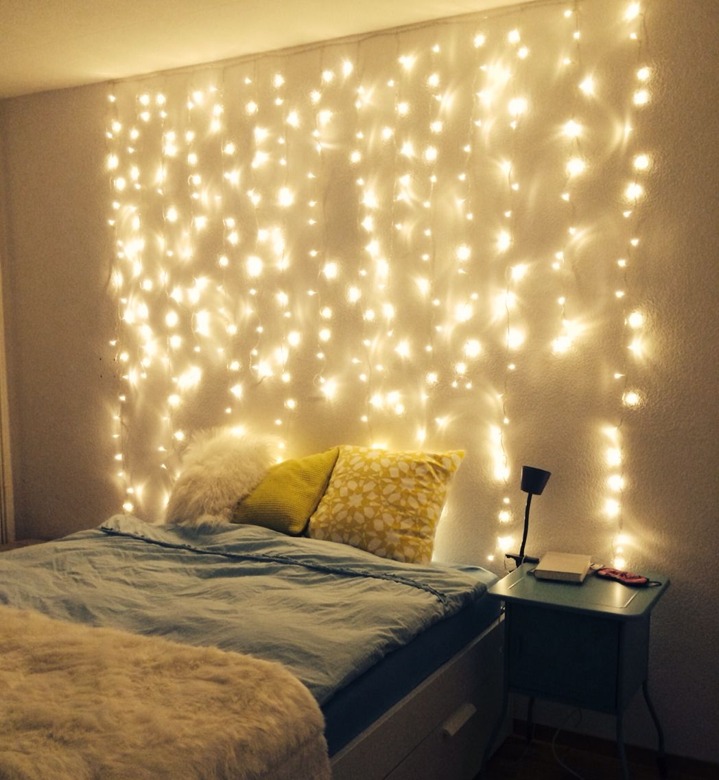 Fairy Lights Good Night  Fairy lights decor bedroom, Fairy lights