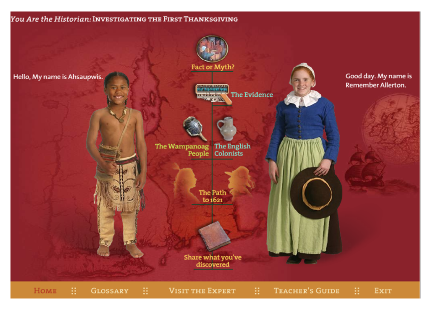 Plimoth Interactive Lesson Thanksgiving interactive