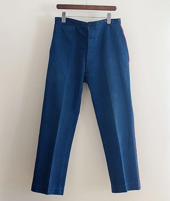 LILY1ST VINTAGE 1900-1920'S ANTIQUE FRENCH INDIGO LINEN PANTS http://floraison.shop-pro.jp/?pid=74257920