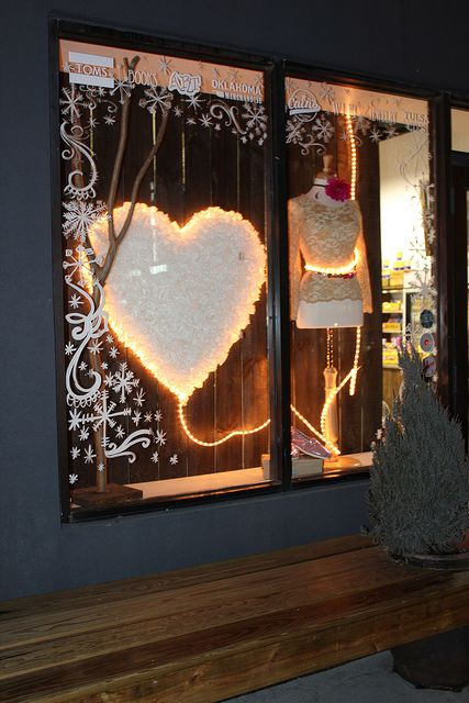 A giant sized heart added to your window makes a very impactful valentines display    IMG_0843 by karapaslay, via Flickr