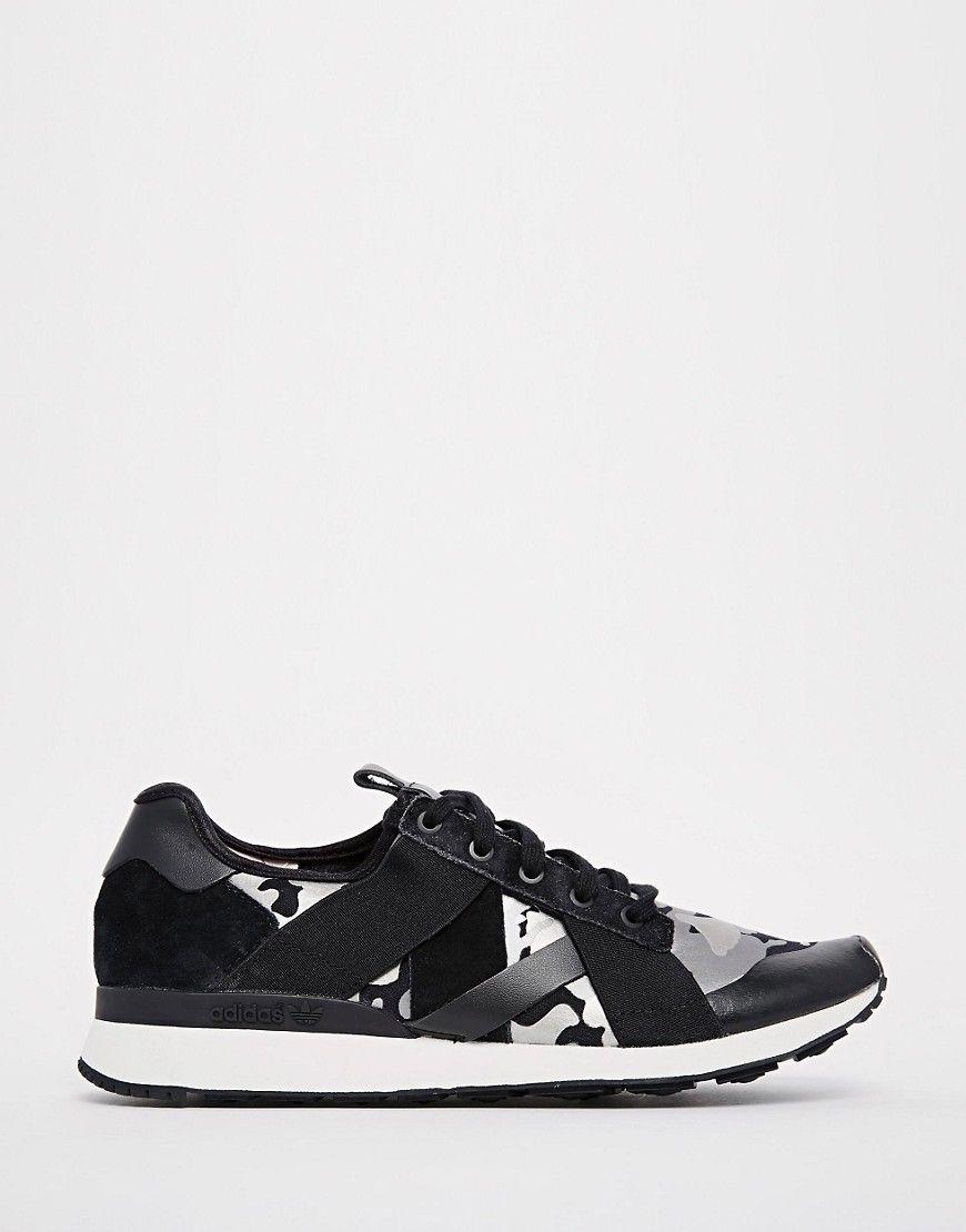 Buy Women Shoes / Adidas Originals Ar-10 Black Print Trainers