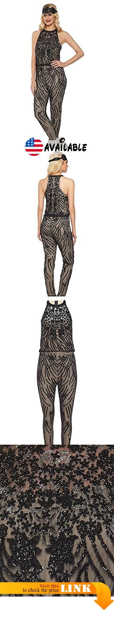fcdb3ee915e Cora 1920 s Vintage Inspired Jumpsuit In Nude Black (12). Fabric 95%  viscose 5% elastane. Beautiful quality and stretches well.