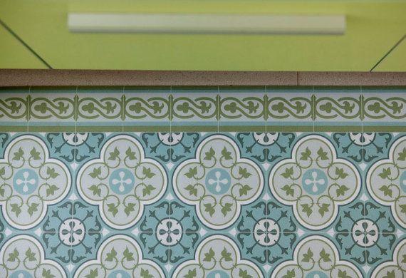 FREE Shipping Tiles Pattern Decorative PVC Vinyl Mat Linoleum Rug 178 Kitchen