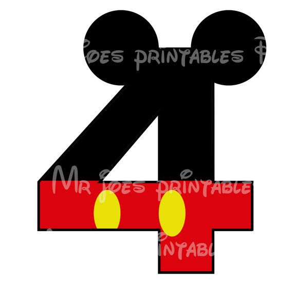 Mickey Mouse Age Birthday Number DIY iron On Printable  Disney Sweatshirt Pillowcase Shirt One Five Shorts