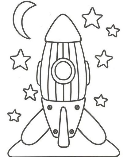dibujo para colorear cohete estrellas | luz | Coloring pages, Space ...