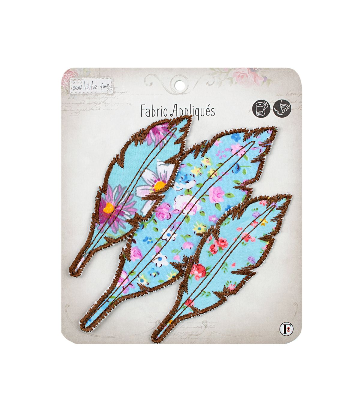 Sew Little Time Feathers applique available at Joann's Craft and