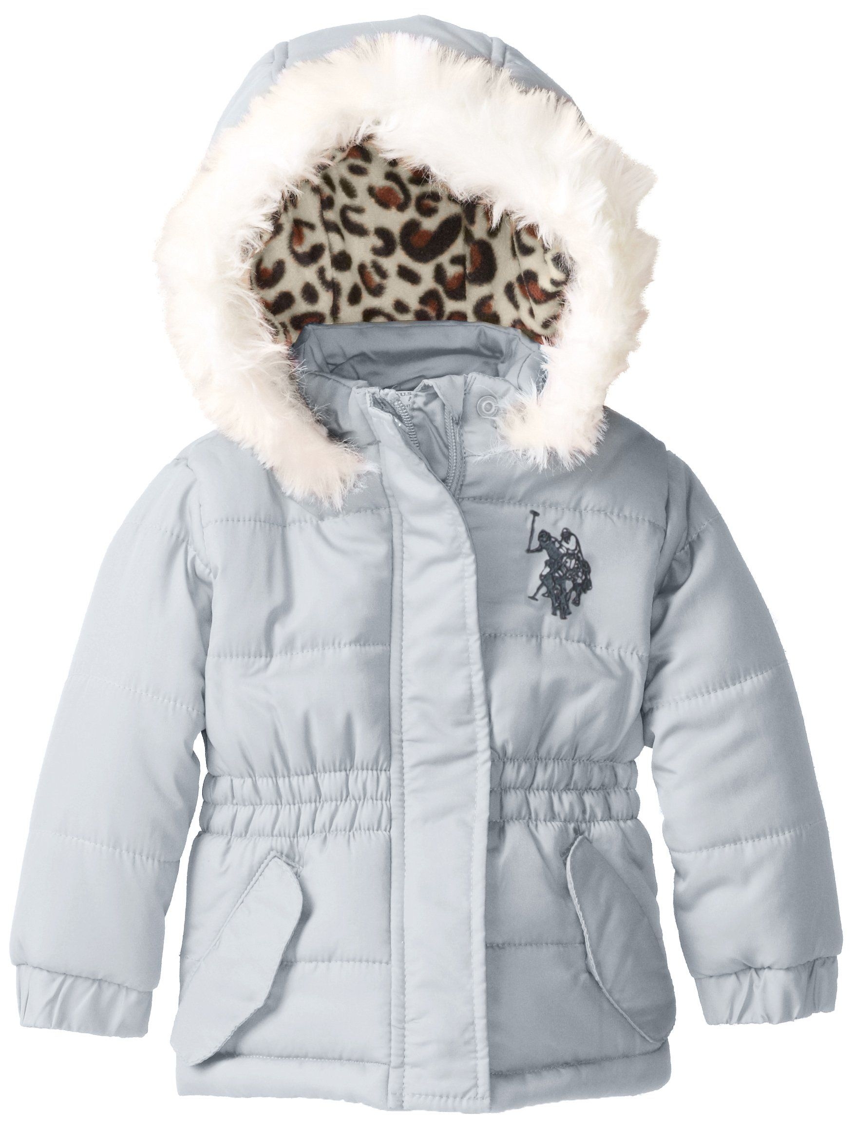 US Polo Association BabyGirls Infant Puffer Jacket with