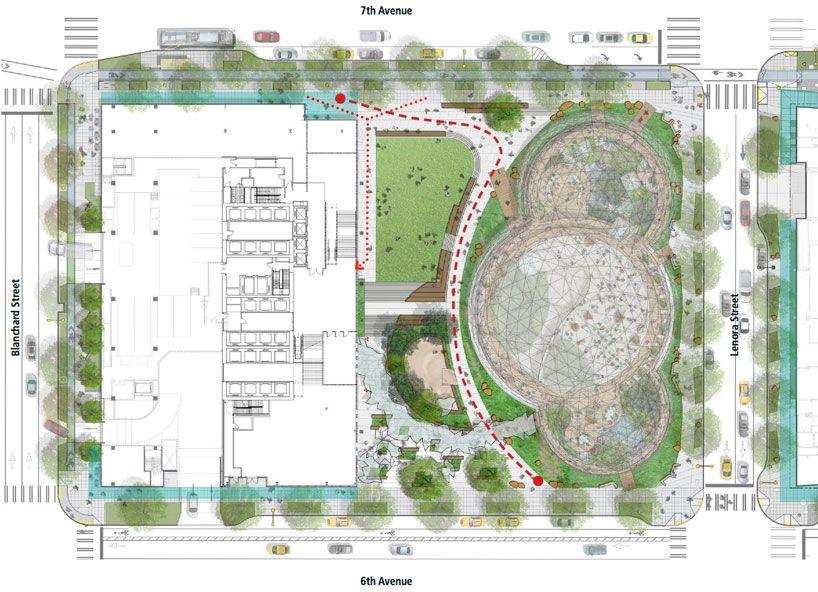seattle approves amazon's biosphere headquarters by NBBJ