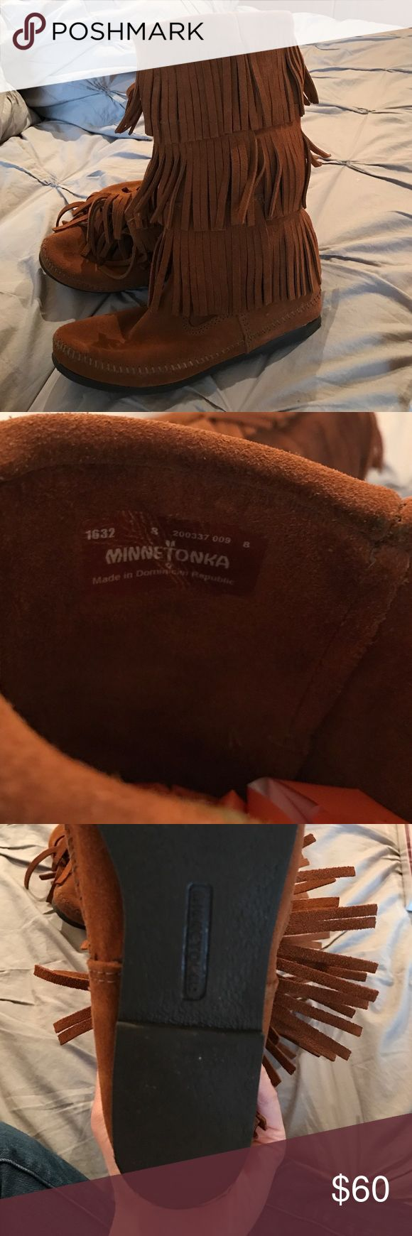 Selling this Minnetonka Boots on Poshmark! My username is: wenglund. #shopmycloset #poshmark #fashion #shopping #style #forsale #Minnetonka #Shoes