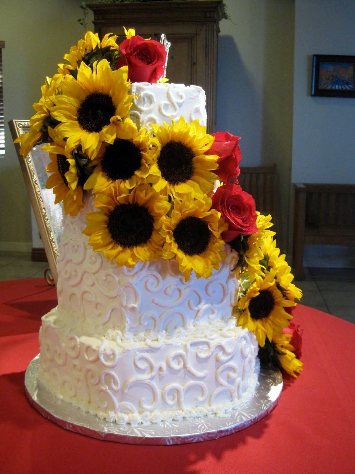 wedding cakes with sunflowers Sunflower Wedding