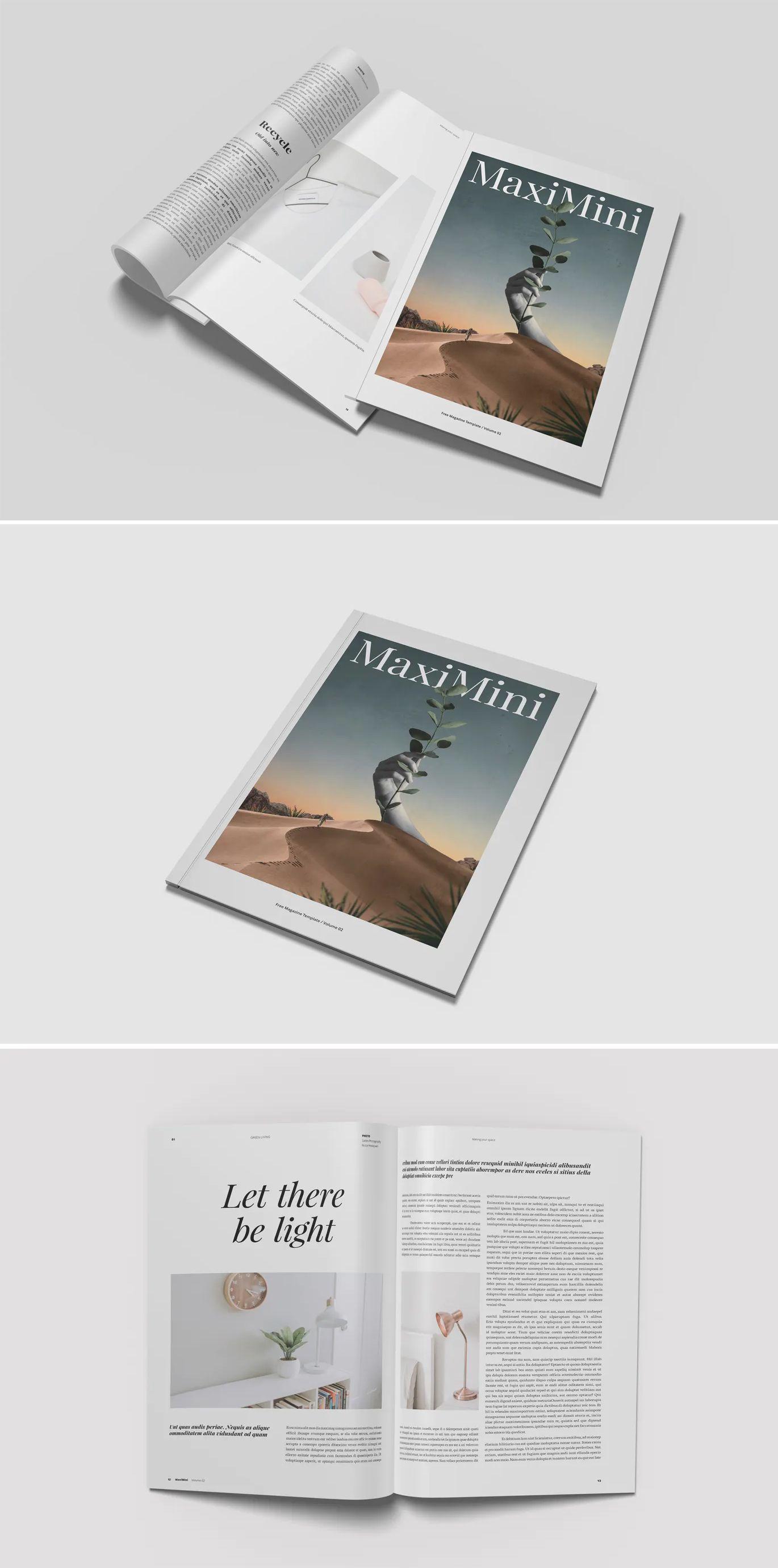 Minimalist Magazine Mockup Magazine Mockup Mockup Design Template