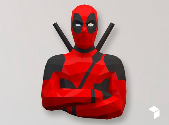 Low Poly Deadpool Model Create Your Own 3d Papercraft Etsy In 2021 Paper Crafts Paper Sculpture Paper Artist